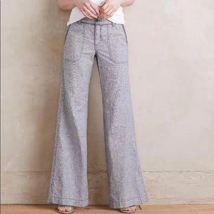 Anthropologie Pilcro wide leg linen blend pants